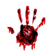 Bloody handprint with drips — Foto de Stock