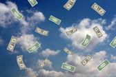 Dollars in the sky — Stock Photo