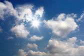 Blue sunny sky — Stock Photo