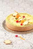 White Chocolate Cheesecake — Stock Photo