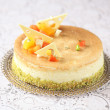 Gouda Cheesecake with tropical fruit — Stock Photo