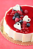 Summer Berries Cake — ストック写真