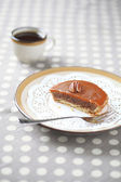 Mini Pecan Pie with Caramel Topping — Stock Photo
