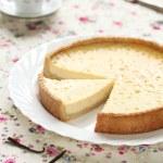 Vanilla Tart on a white plate — Stock Photo #44346661
