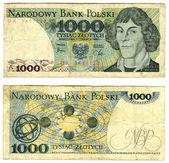 One thousand zlotych, Poland, 1982 — Stock Photo