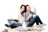 Student tjejer — Stockfoto