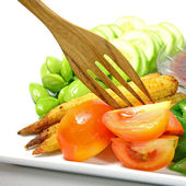 Colorful Asian Style Mixed Vegetable Dish. — Stock Photo
