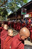 Buddhist novices in Amarapura, Myanmar. — Stock Photo