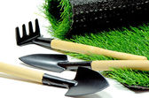 The Gardening Tools. — Stock Photo