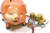 Checking The Saving Money. — Stock Photo
