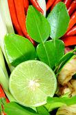Spicy Thai Herb Ingredients. — Stockfoto