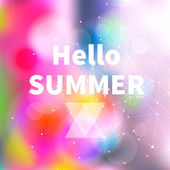 Summer Bright Abstract Blurry Background, vector — Stock Vector