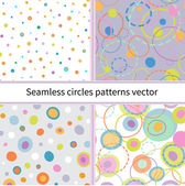 Set of Seamless abstract colors circles. vector — Vecteur