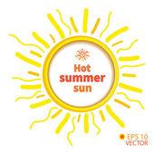 Sun symbol , vector background — Vettoriale Stock