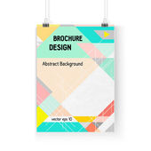 Business brochure background. Layer template , vector — Stock Vector