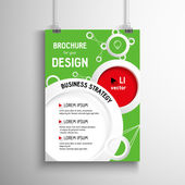 Business brochure background. Circles Layer template , vector — Vector de stock