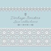 Vintage lace borders,vector — Stock Vector