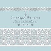 Vintage lace borders,vector — Stock Vector