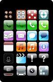 Apple battons — Stock Vector