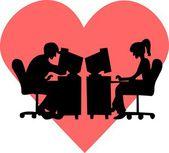 Loving couples — Stock Vector