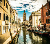 A narrow canal in Venice — Stock Photo