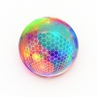Hexagon grid on multi colored sphere — Stock Photo #44777595