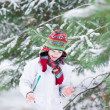Child playing snow ball — Stock Photo #43247587