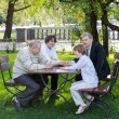 Four generations of men in a park — Stock Photo #43249219