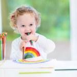 meisje van de baby tekenen — Stockfoto