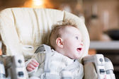 Baby in the kitchen — Stock Photo