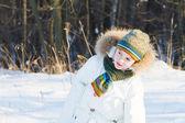 Hild ve winter parku — Stock fotografie