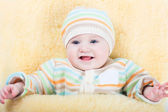 Little baby in a stroller — Stock Photo