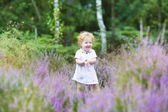 Baby girl  playing on the nature — Stock Photo
