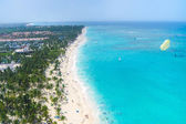Nice tropical beach from the air — Stockfoto