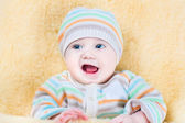 Happy little baby relaxing — Stock Photo