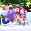 Happy family at birthday party — Stock Photo #49278947