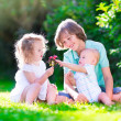 Happy kids in the garden — Stock Photo #49607443