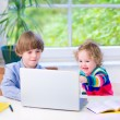 Kids with a laptop — Stock Photo #50902691