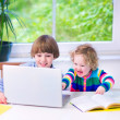 Kids with a laptop — Stock Photo #51020405