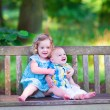 Brother and sister in a park — Stock Photo #51342925