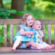 Brother and sister in a park — Stock Photo #51343171