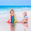 Two kids on a beach — Stock Photo #51343505
