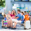 Family at the airport — Stock Photo #51344003
