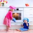 Kids baking pie — Stock Photo #51346987