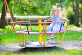 Little girl on a playground — Stock Photo
