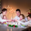 Happy family at Christmas dinner — Fotografia Stock  #51473389
