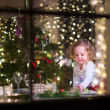 Little girl at Christmas dinner — Stock Photo #51473517