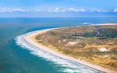 Beach from the air, Holland — Stock Photo
