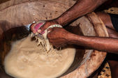 Making kava — Stock Photo