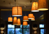 Lamps on a coffee shop — Stockfoto